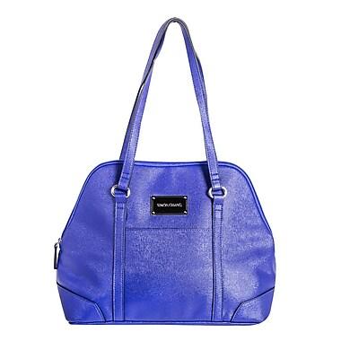 Simon Chang Ladies Faux Leather Dome Satchel Cooler Bag, Indigo