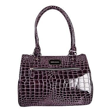 Simon Chang Ladies Faux Leather Croco Print Cooler Bag, Purple