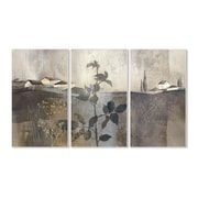 Stupell Industries Champagne Gold Foil 3 Piece Painting Print Wall Plaque Set
