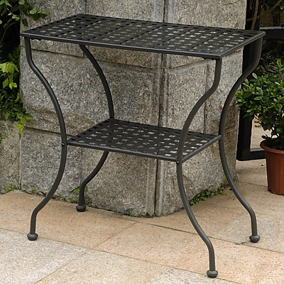 International Caravan Mandalay Iron 2-Tier Patio Table