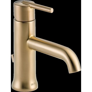 Delta Trinsic Bathroom Single Handle Centerset Bathroom Faucet Brilliance Champagne Bronze