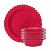 Chantal 5 Piece Pie Set; True Red