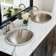 Sinkology Dual Mount Oval Bathroom Sink