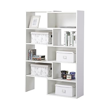 Homestar Flexible & Expandable Shelving Bookshelf, White