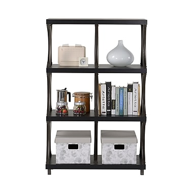 Homestar 4-Shelf/ 6-Compartment Bookcase, Espresso