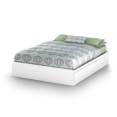 South Shore Fusion Queen Mates Bed (60''), Pure White