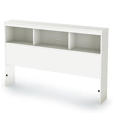 South Shore Karma Full Bookcase Headboard (54''), Pure White
