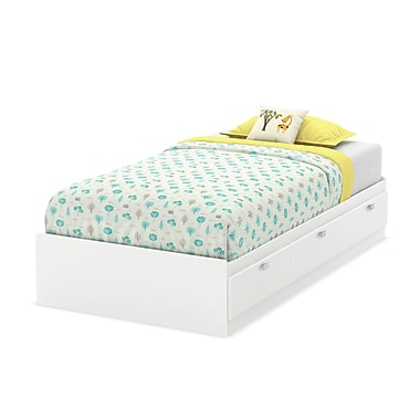 South Shore Karma Twin Mates Bed (39''), Pure White