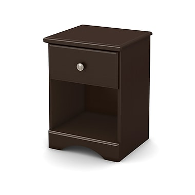 South Shore Morning Dew Night Stand, Chocolate, 18