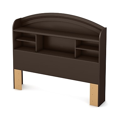 South Shore Morning Dew Full Bookcase Headboard (54''), Chocolate
