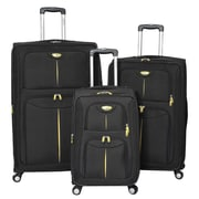 American Green Travel 3 Piece Luggage Set; Black