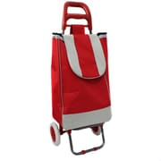 EC World Imports Easy Rolling Lightweight Collapsible Shopping Cart; Red