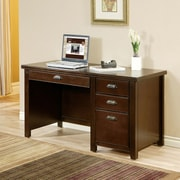kathy ireland Home by Martin Furniture Tribeca Loft Computer Desk with Keyboard Tray and 3 Drawers