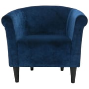 Fox Hill Trading Savannah Barrel Chair; Blue