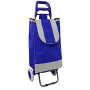 EC World Imports Easy Rolling Lightweight Collapsible Shopping Cart; Royal Blue
