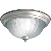Forte Lighting 1 Light Flush Mount; 13.25'' H x 6.25'' W / Brushed Nickel
