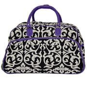 All-Seasons 21'' 2 Wheeled Carry-On Duffel; Purple