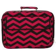 World Traveler Chevron Laptop Briefcase; Fuchsia / Black