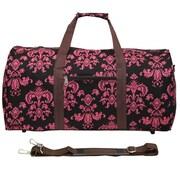 World Traveler Damask ll 22'' Lightweight Duffel; Brown / Pink