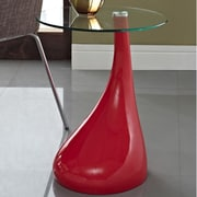 Modway Teardrop End Table; Red