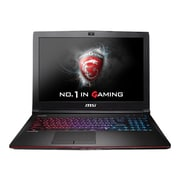"MSI GE62 APACHE-276 15.6"" Full HD Display Intel Core i7 5700HQ 1TB HDD 12GB RAM Windows 16"" Notebook, Aluminum Black"