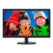 "Philips 223V5LSB/27 V-line 21.5"" 1080p Full HD LED-Backlit LCD Monitor, Textured Black/Black Hairline"