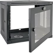 Tripp Lite SmartRack 9U Wall-Mount Rack Enclosure Cabinet, Black (SRW9UG)