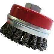 """3"""" Bridled Cup Brushes, Wire Gauge, 0.02, Nt969"""