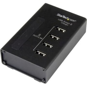 StarTech 4-Port USB Charging Station, Black (ST4CU424)