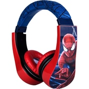 Sakar 30346 Kids Safe Spiderman Over-the-Head Stereo Headphones
