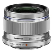 Olympus® M.Zuiko Digital 25 mm Lens For Camera, Silver