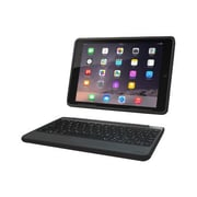 Zagg® ID6RGK-BB0 Rugged Book Polycarbonate Keyboard and Case for iPad Air 2, Black