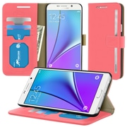roocase Prestige Folio Case Cover for Samsung Galaxy Note 5, Pink (RC-SAM-NOTE5-FOL-PR-PI)