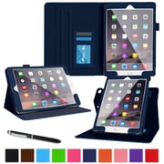 roocase Dual View Folio Stand Case for Apple iPad Pro, Navy (RC-AIR-PRO-DV-NV)