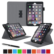 "roocase RC-APL-MINI4-DV-BK Dual View Leather Case for 7.9"" Apple iPad Mini 4, Black"