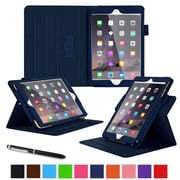 "roocase RC-APL-MINI4-DV-NV Dual View Leather Case for 7.9"" Apple iPad Mini 4, Navy"