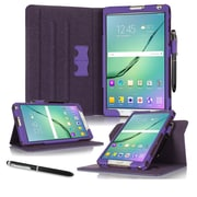 "roocase RC-GALX-TAB-S2-8.0-DV-PR Dual View Pro Leather Folio Case for 8"" Samsung Galaxy Tab S2, Purple"