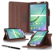 "roocase RC-GALX-TAB-S2-8.0-DV-BR Dual View Pro Leather Folio Case for 8"" Samsung Galaxy Tab S2, Brown"