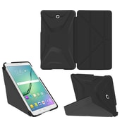"roocase RC-GALX-TAB-S2-8.0-OG-SS-GB/GM Origami 3D PC/TPU Case for 8"" Samsung Galaxy Tab S2, Granite Black/Gunmetal Gray"