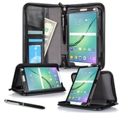 "roocase RC-GALX-TAB-S2-9.7-EXE-BK Executive Portfolio Leather Case for 9.7"" Samsung Galaxy Tab S2, Black"