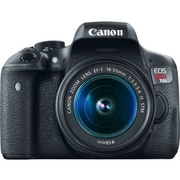 Canon EOS Rebel T6i 24.2 Megapixel DSLR Camera with Lens, Black
