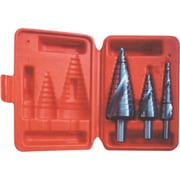 3-Piece Step Drill Set with Plastic Case