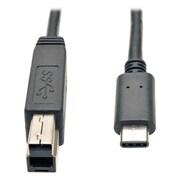Tripp Lite USB 3.1 Gen 1 5 Gbps Cable USB Type-C USB-C to USB 3.0 Type B M/M 3' (U422-003)