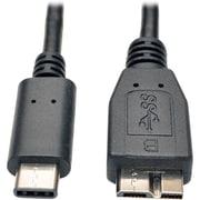 Tripp Lite USB 3.1 Gen 1 5 Gbps Cable USB Type-C USB-C to USB 3.0 Micro-B M/M 3'