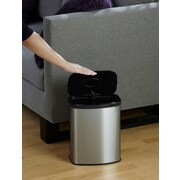 Nine Stars 2.1gal Stainless Steel Removable Bucket Motion Sensor Trash Can (DZT-8-1A)