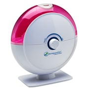 PureGuardian® H1010P 14-Hour Ultrasonic Cool Mist Humidifier, Table Top, Pink with Kids Decals