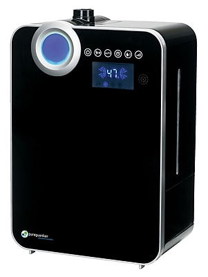 PureGuardian H8000B 120-Hour Elite Ultrasonic Warm/Cool Mist Humidifier with Digital Smart Mist Sensor, 2-Gallons 1932893