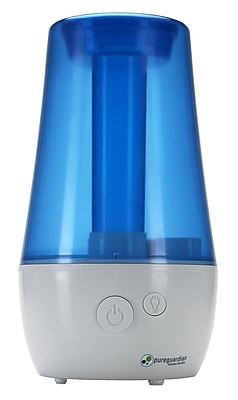 PureGuardian - 1.1-Gal. Ultrasonic Cool Mist Portable Humidifier - White/Blue H965