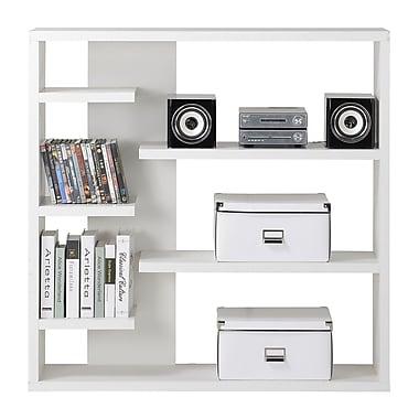Homestar - Bibliothèque de rangement à 6 tablettes, blanc