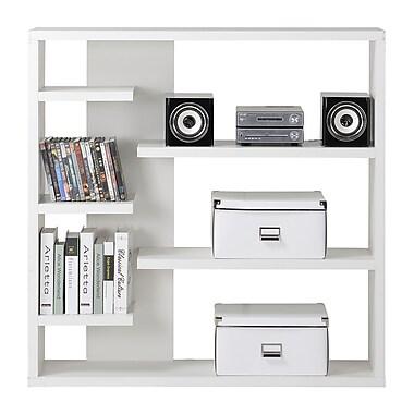 Homestar 6-Shelf Storage Bookcase, White